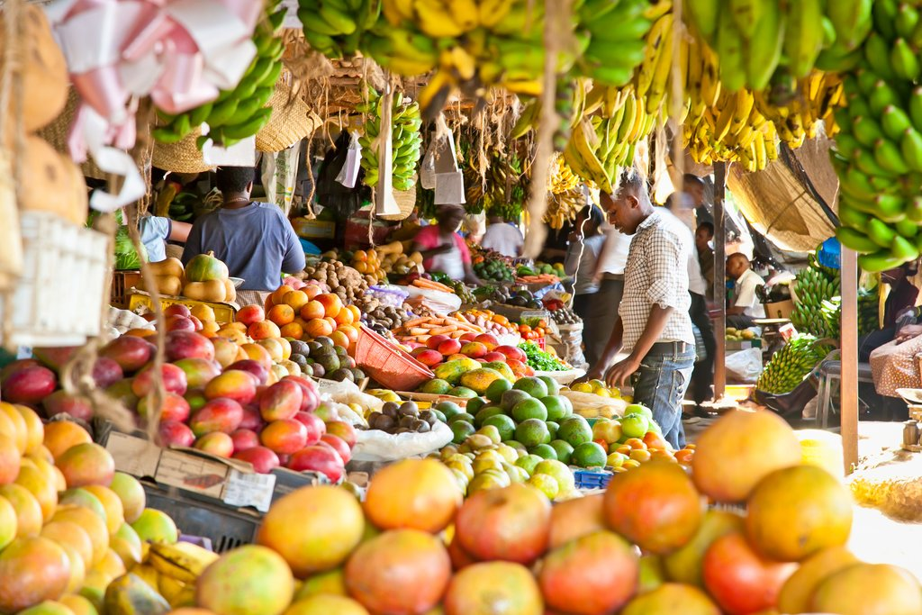 Fruit market in Nairobi