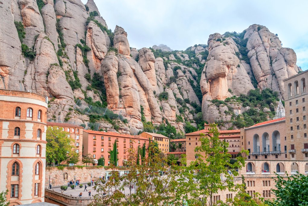 The monastery of Santa Maria de Montserrat