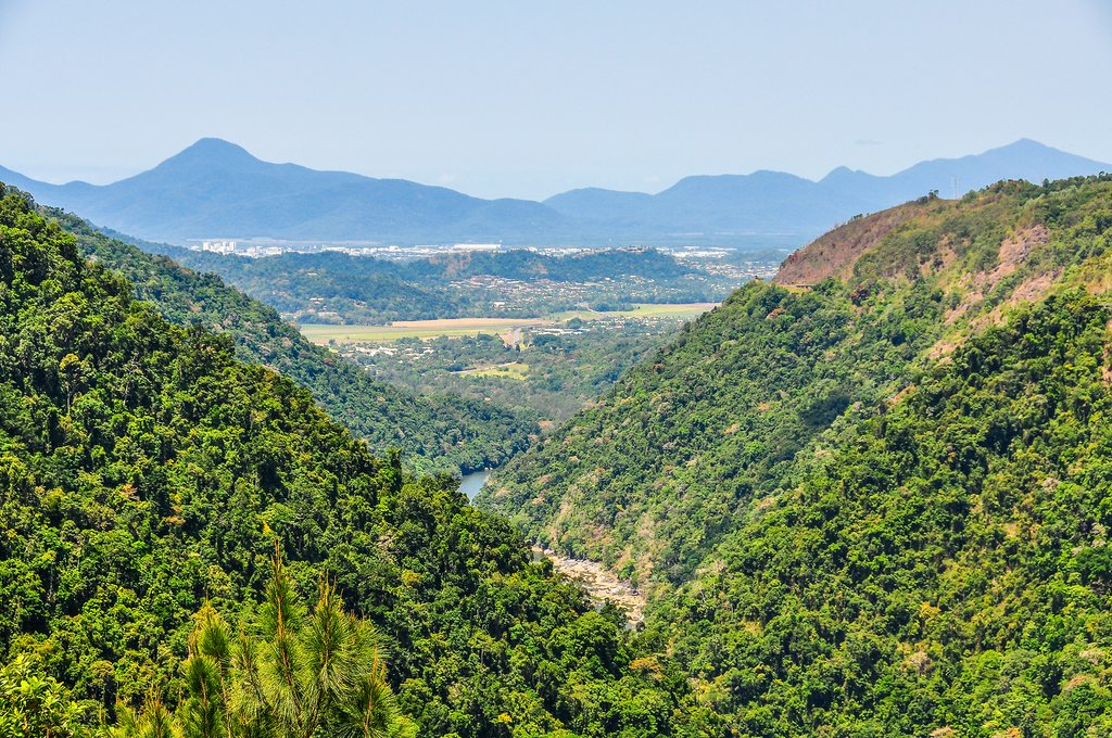 The view from a lookout in Kuranda