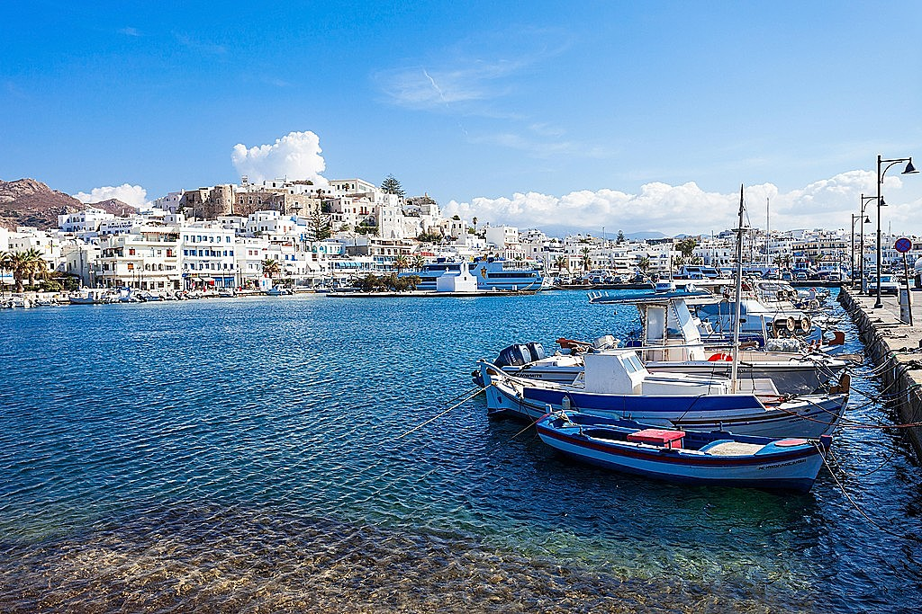 The Port of Naxos Chora