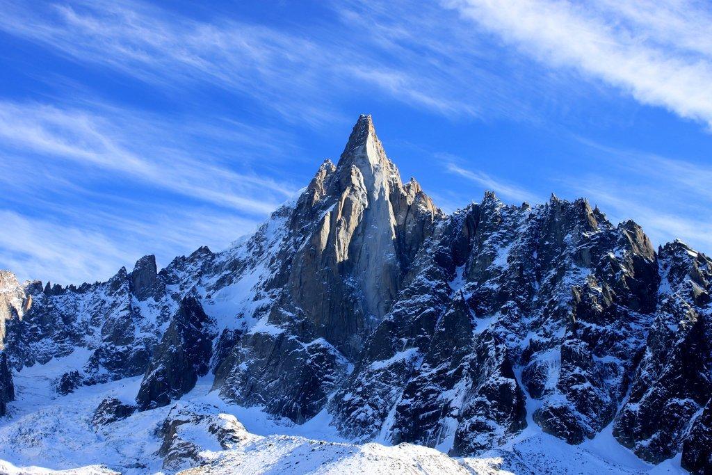Aiguille du Dru in the Mont Blanc massif