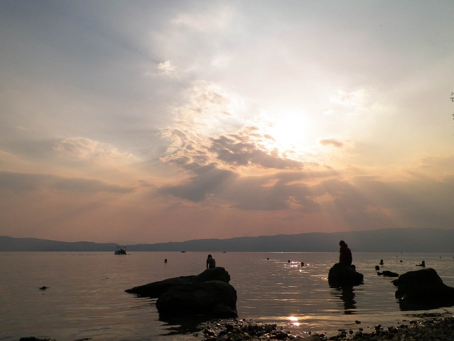 Sunset over Lake Ohrid