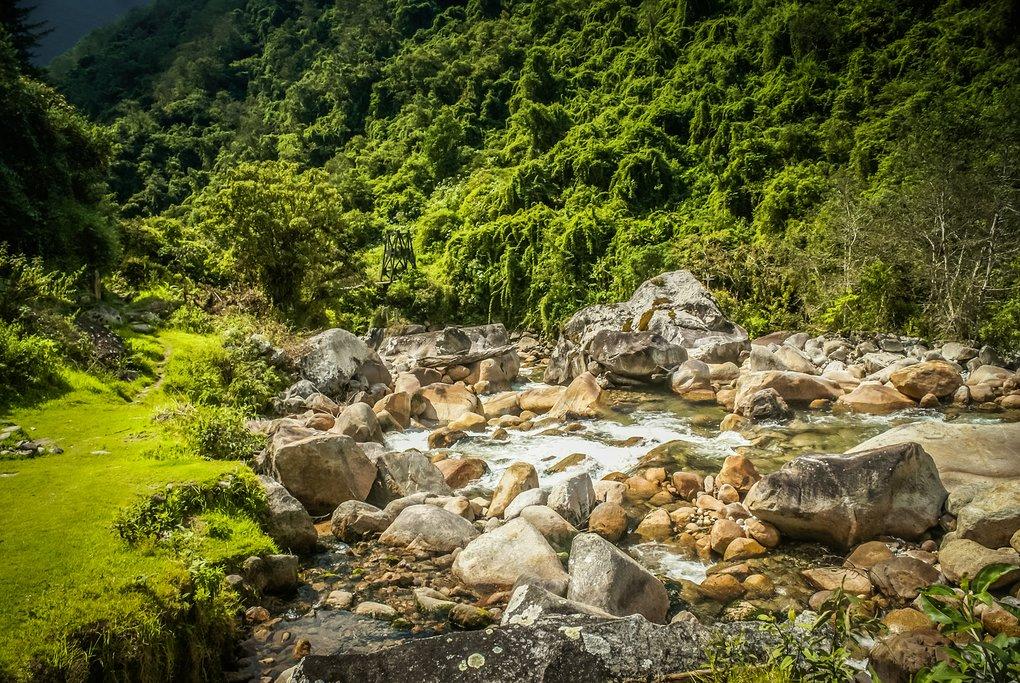 You'll cross rivers along the trek