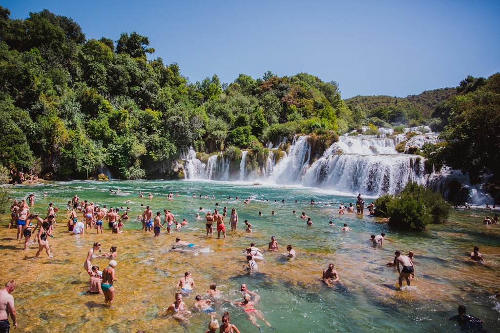 Swimming Lagoon in Krka National Park