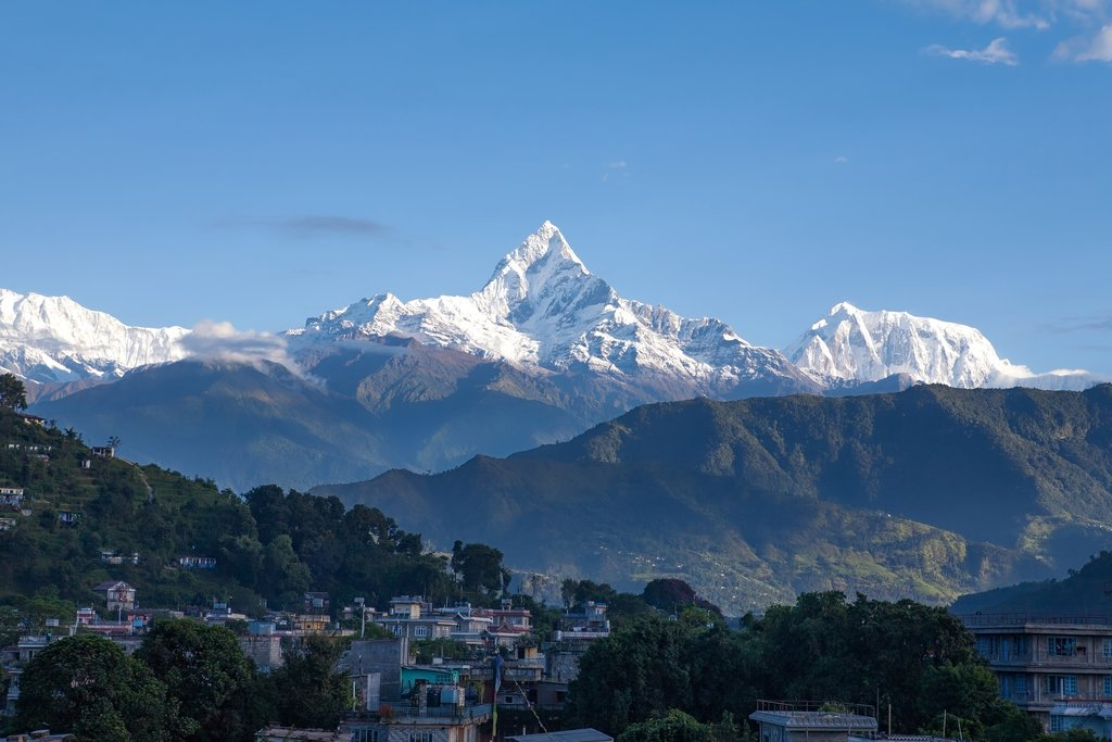 View of Machapuchare from Pokhara