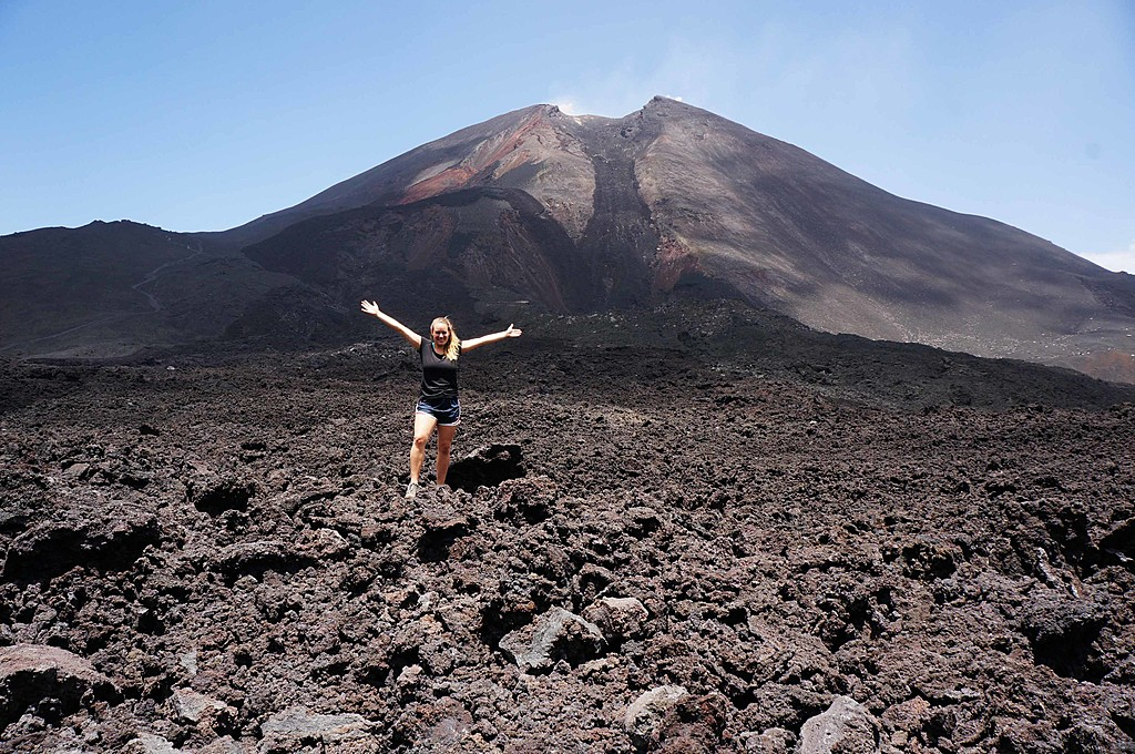 The lava fields of Pacaya Volcano.