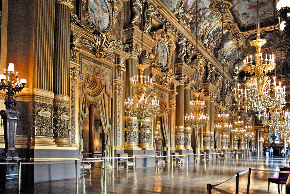 The opulent interior of Opéra Garnier