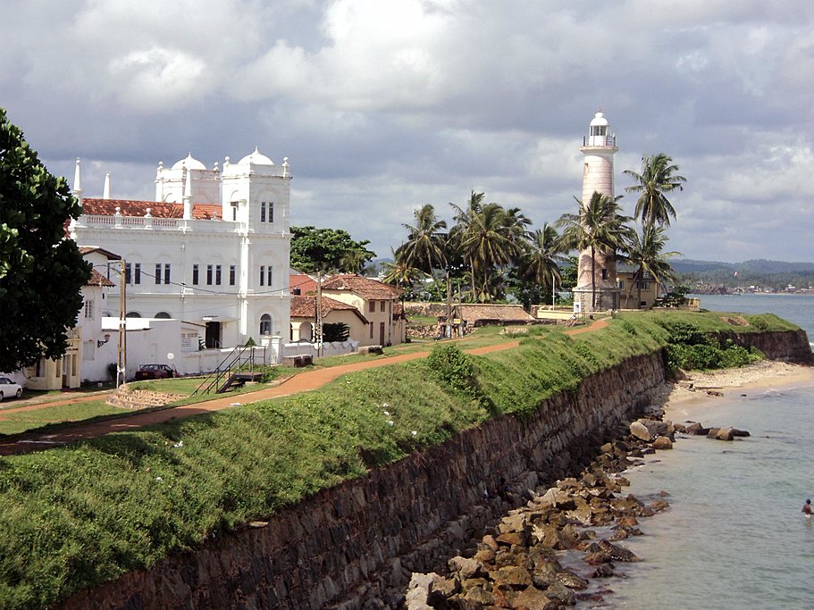 The historic fortified port of Galle Dutch Fort