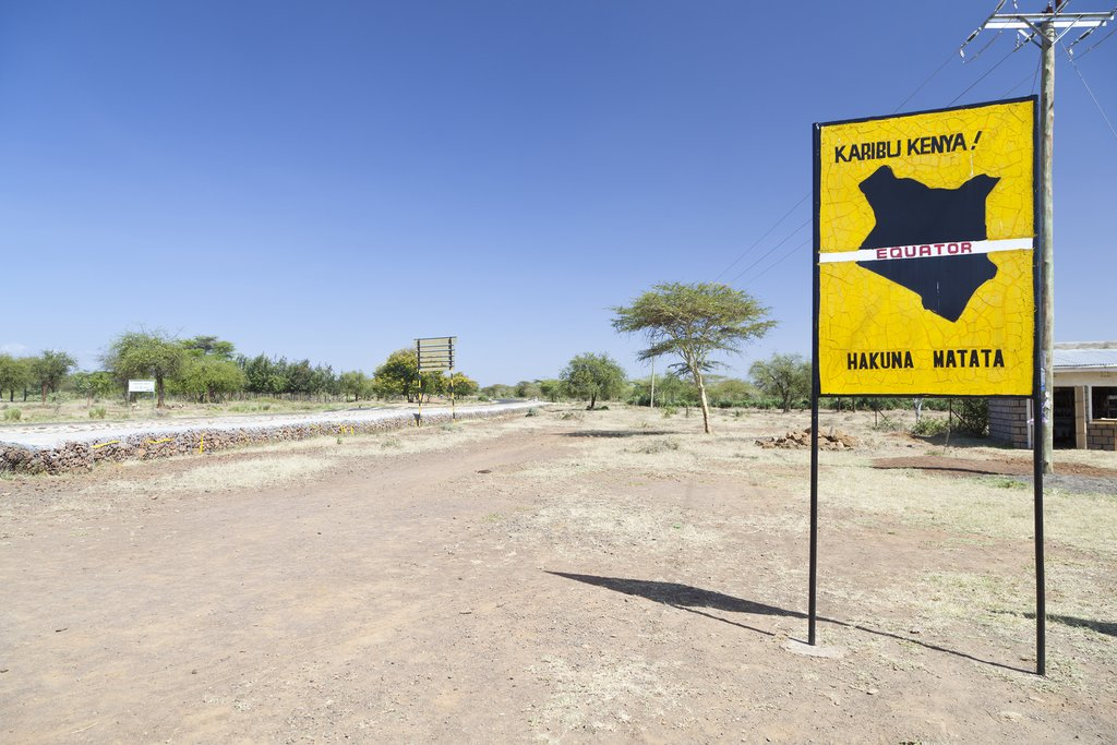 Crossing the equator in Kenya