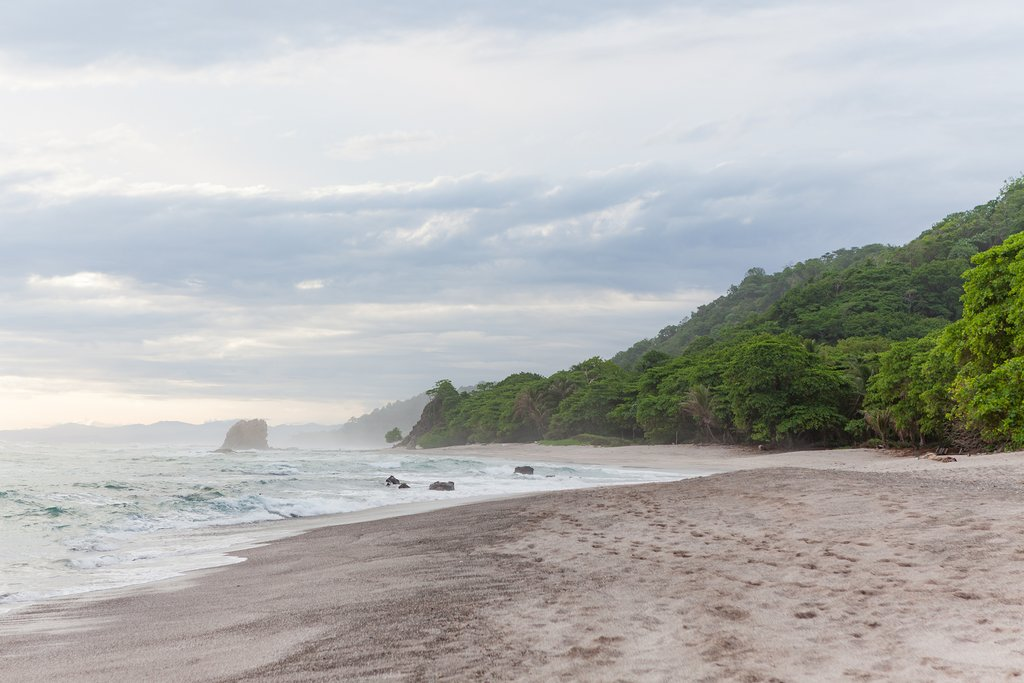 Along the beach in Santa Teresa, Costa Rica