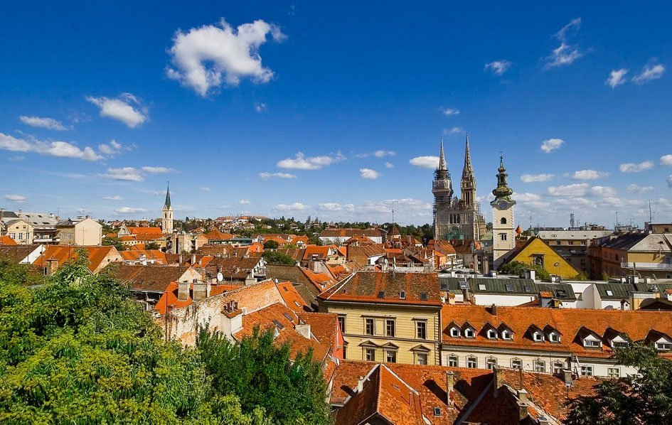 Looking out over Zagreb, Croatia's capital