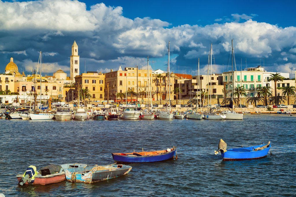 View of Marina in Bari, Italy