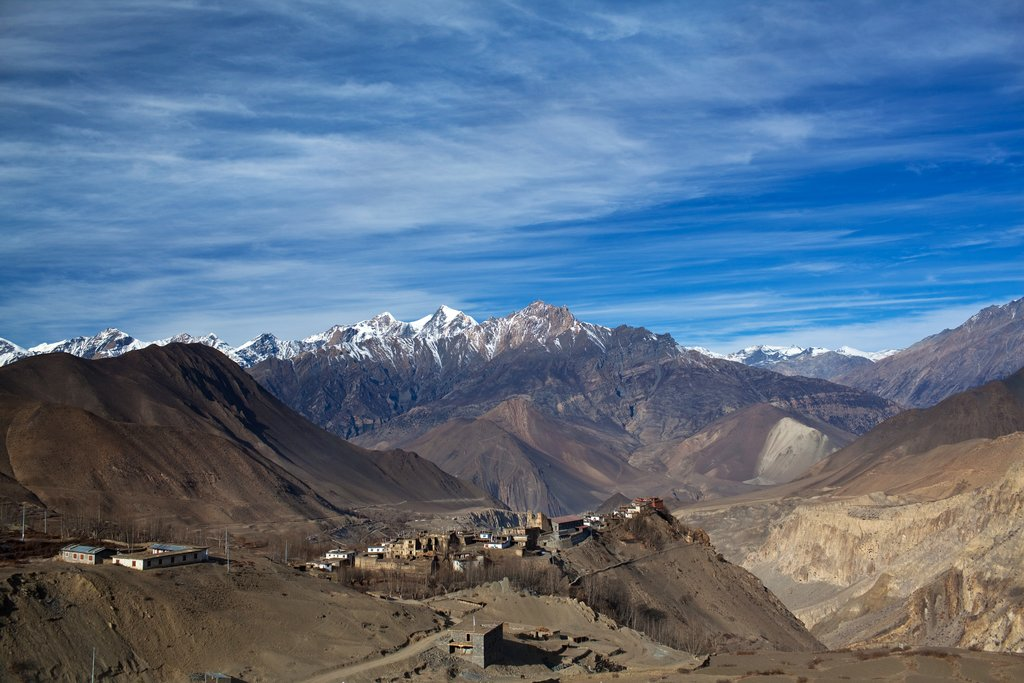 Jarkot village in Mustang