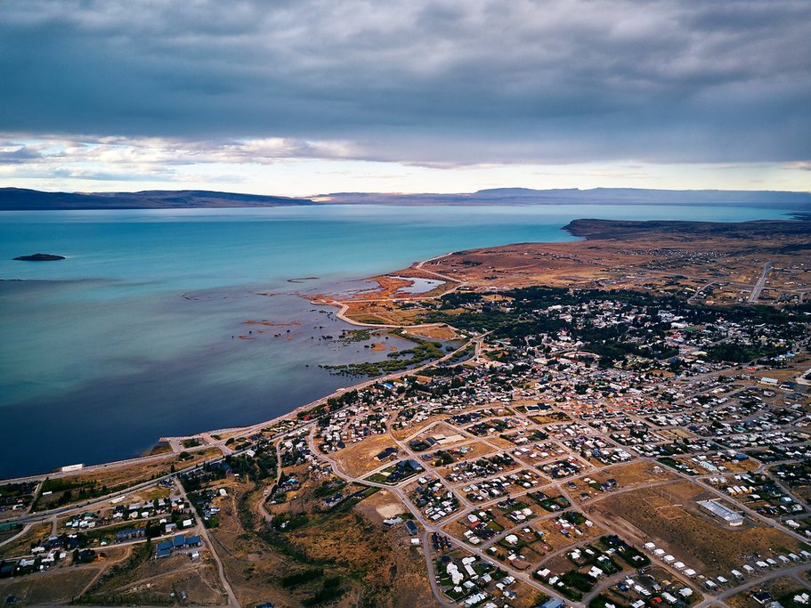 Aerial view of El Calafate