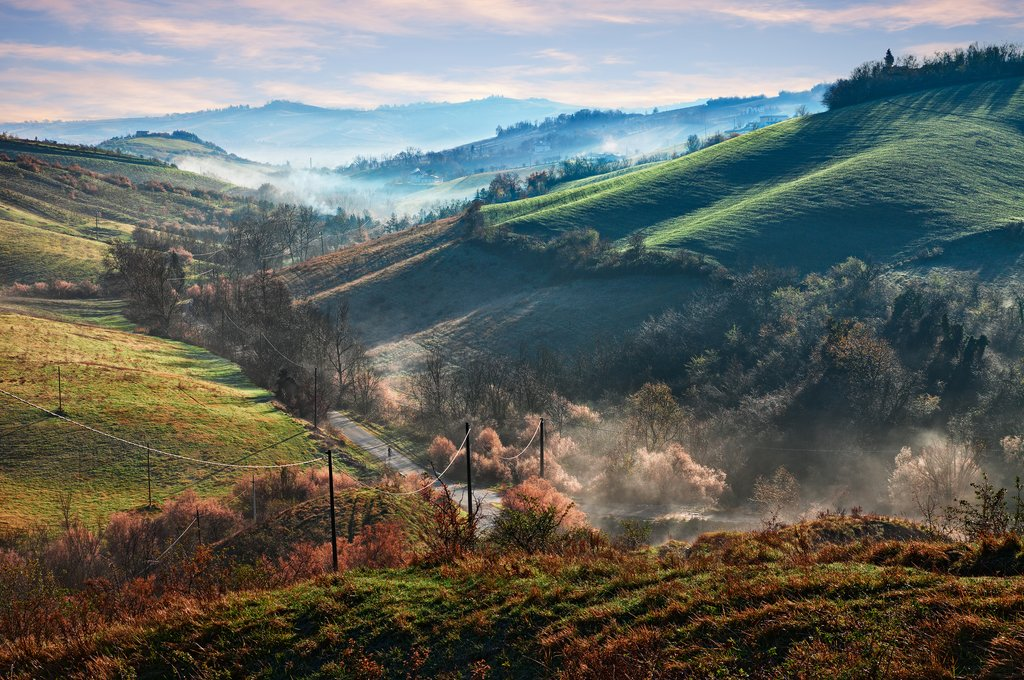 Sunrise in the Emilia Romagna countryside