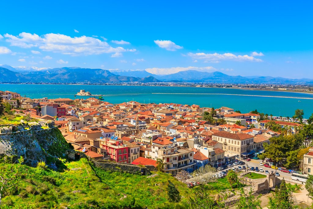 An aerial view of Nafplio
