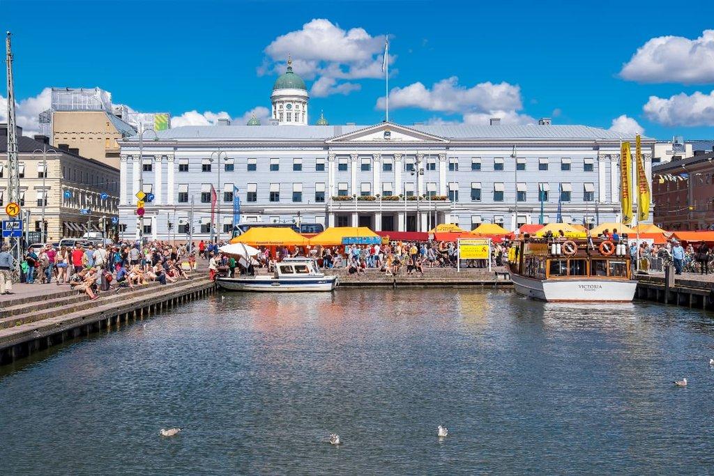 A harbor in Helsinki