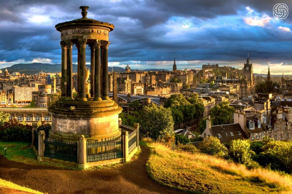 Views across Edinburgh from Carlton Hill.