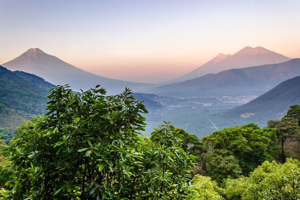 Sunrise View Over  Volcán de Agua