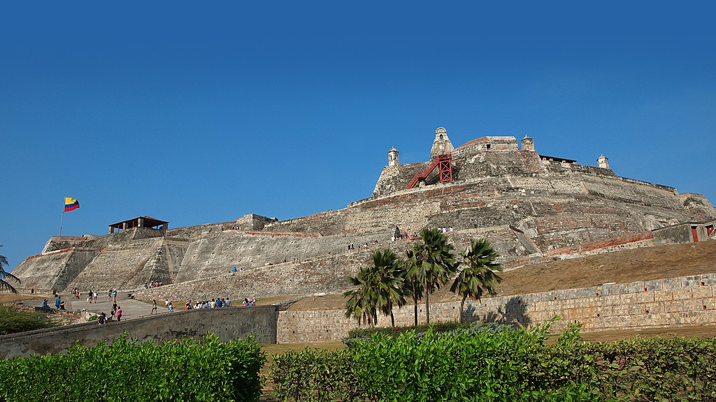 The historic fortress of Castillo San Felipe de Barajas.