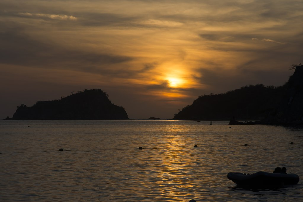Sunset on Rodadero Beach, Santa Marta.
