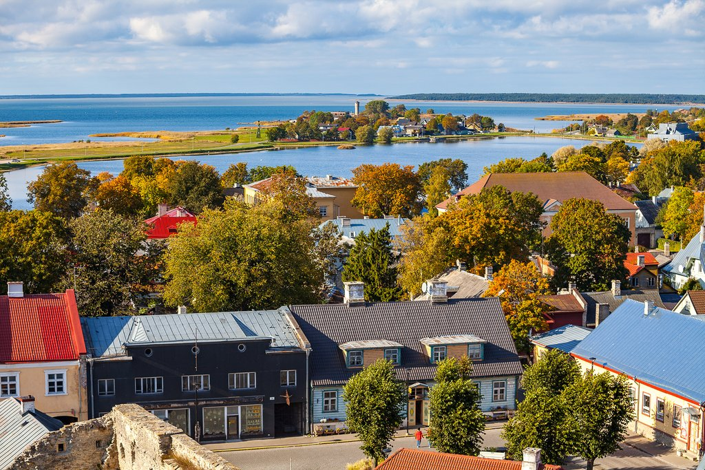 The seaside resort town of Haapsalu