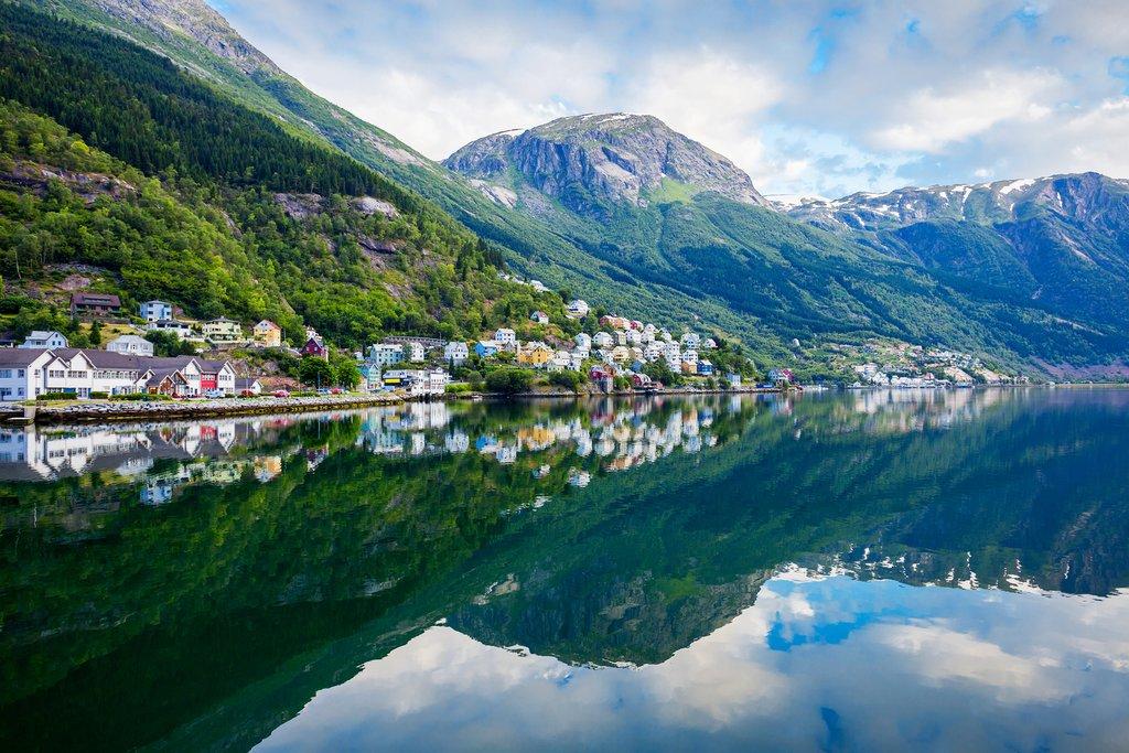 Fjord-side view of Odda