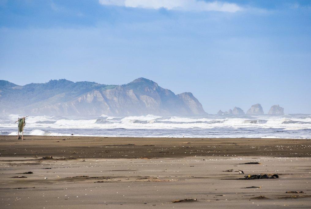 A near-empty beach on Chiloé Island