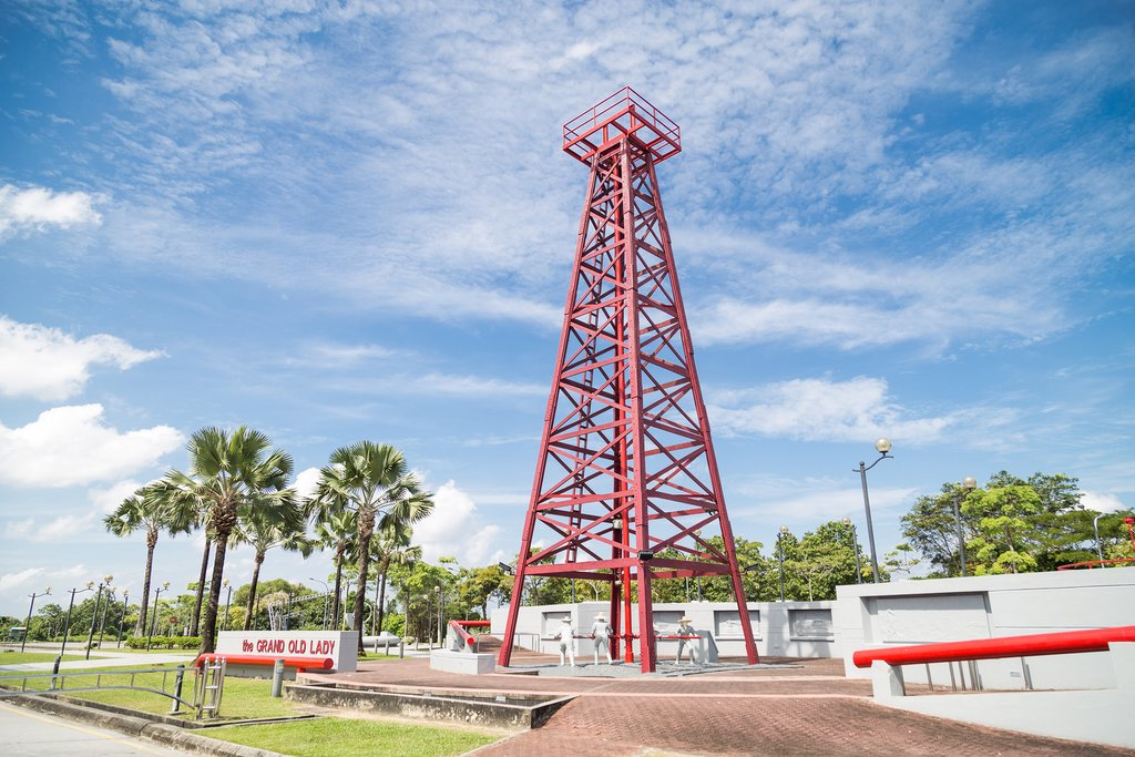 The Grand Old Lady was the city's first oil rig well