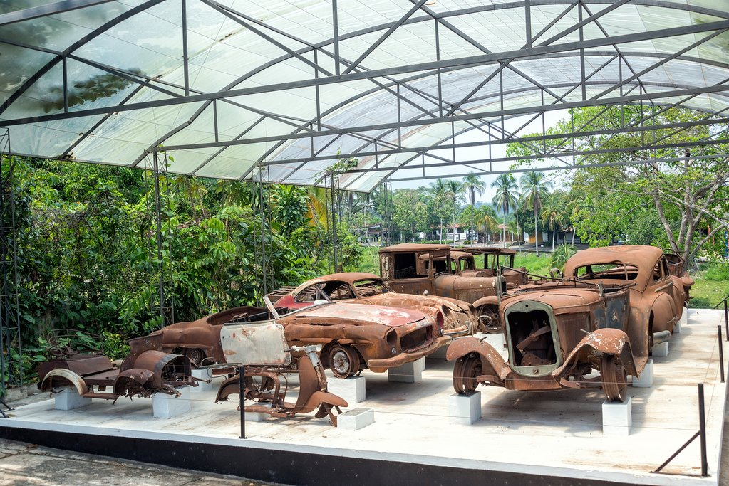 Relics of Escobar's old cars