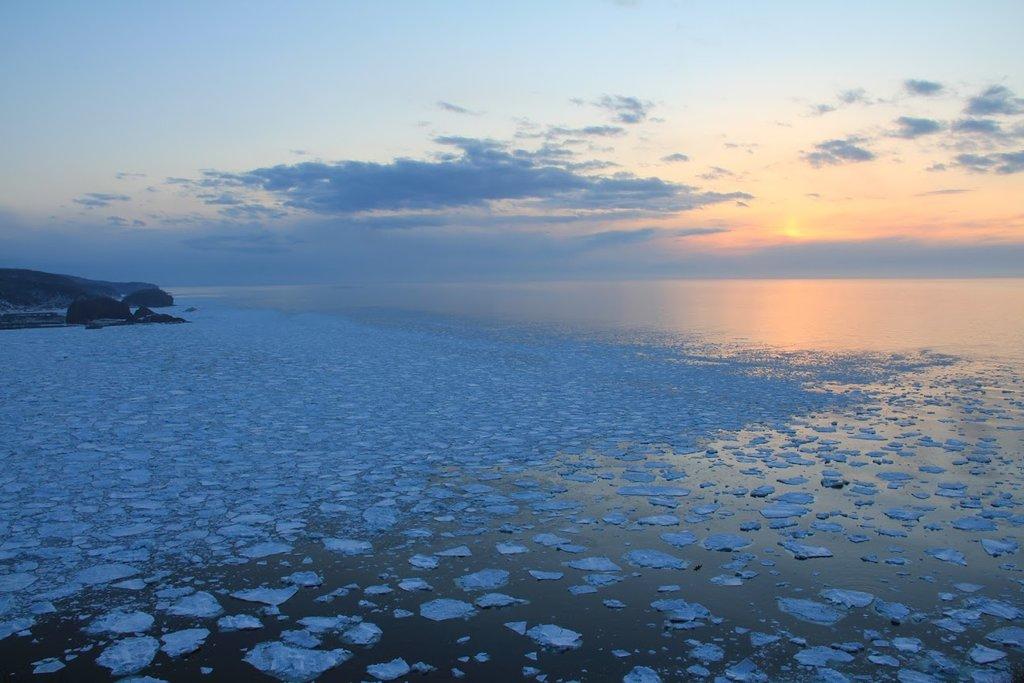 Sunset over the Sea of Okhotsk.