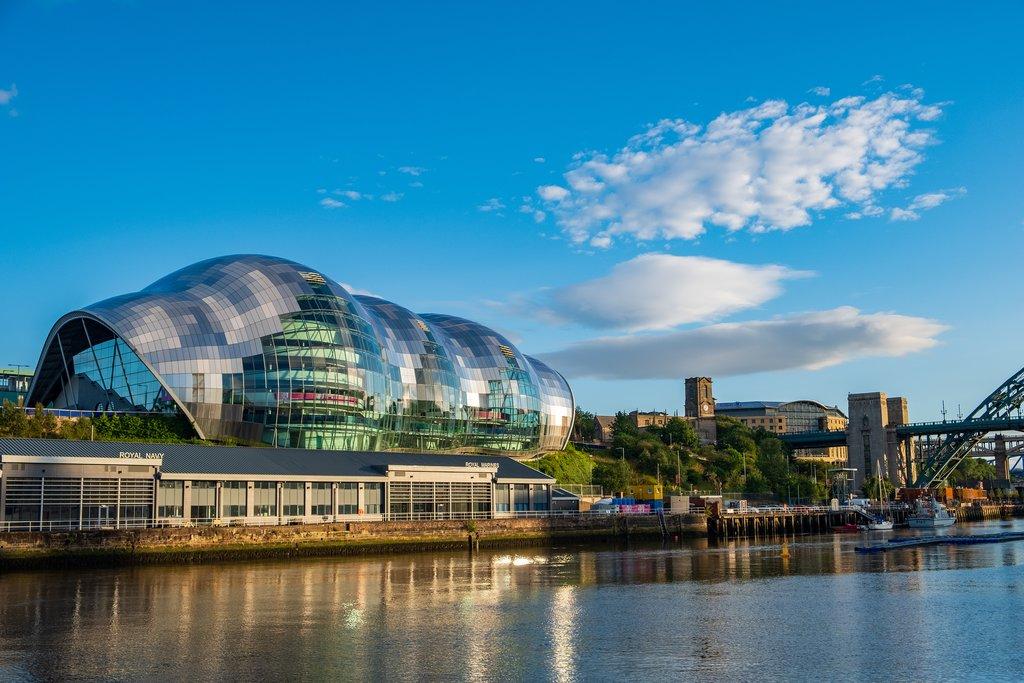 Sage Gateshead concert hall on Newcastle Gateshead Quayside