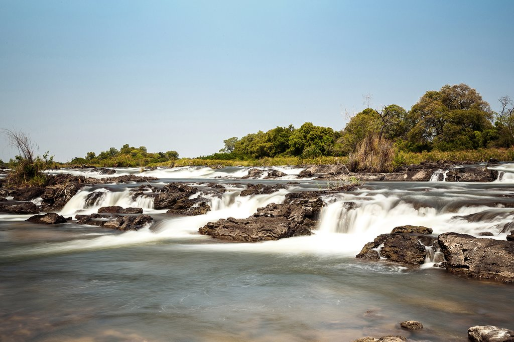 Popa Falls in Caprivi North Namibia