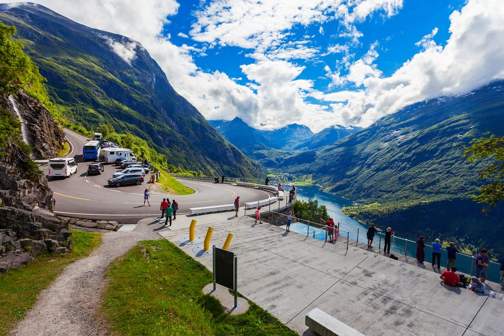 A scenic overlook along the Geirangerfjord
