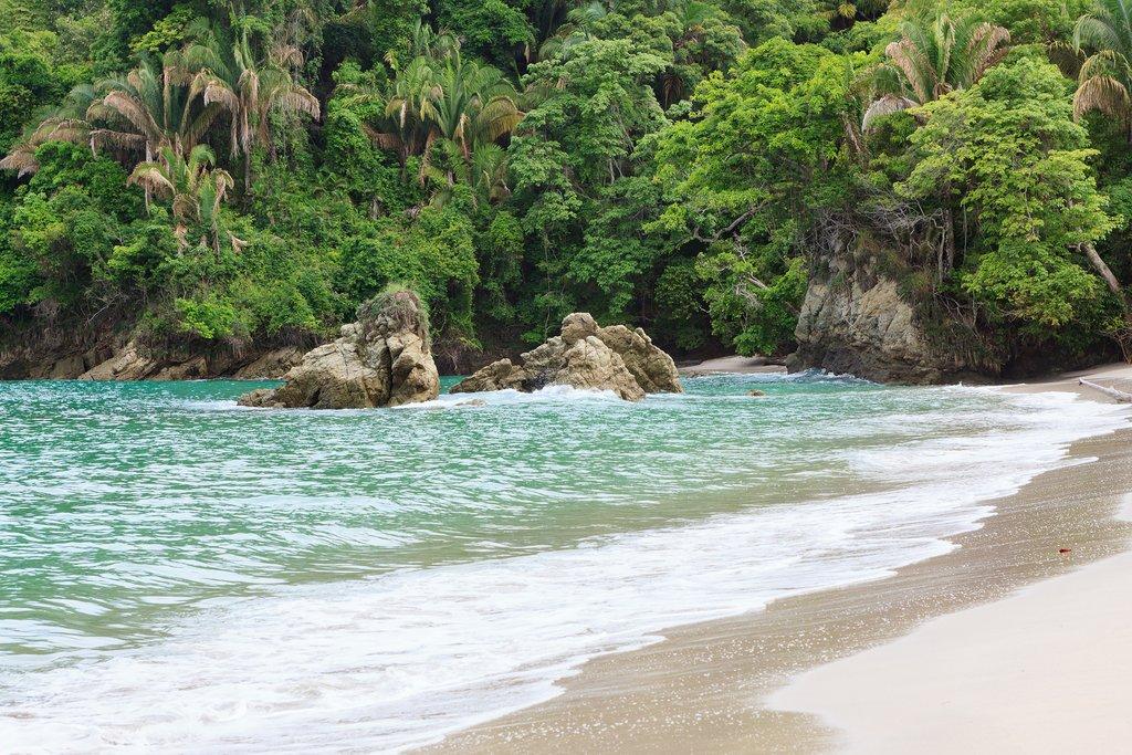 White sand beaches in Manuel Antonio