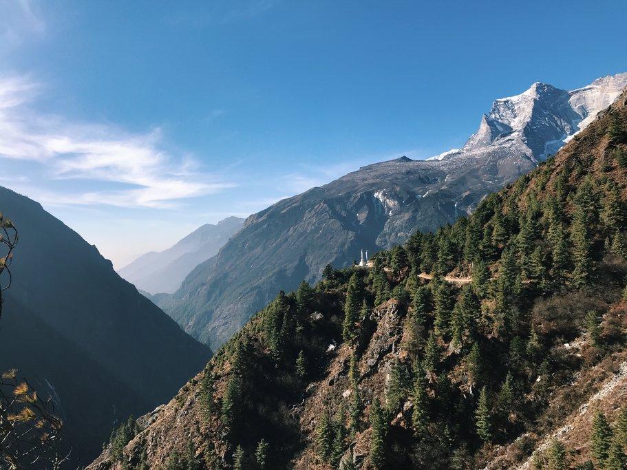 Himalaya views on the trail