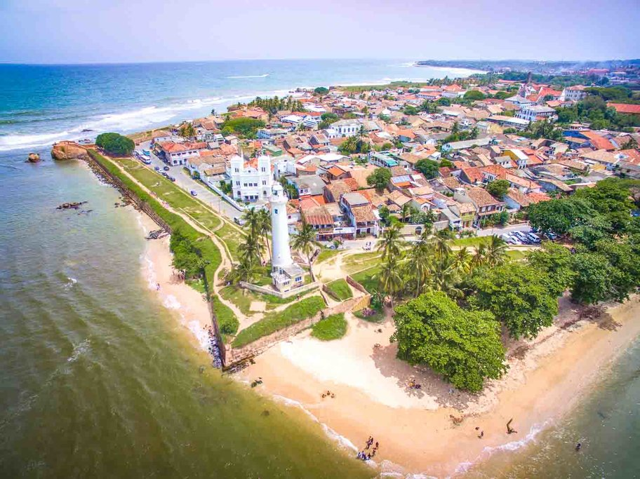 The historic fortified port of Galle Dutch Fort.