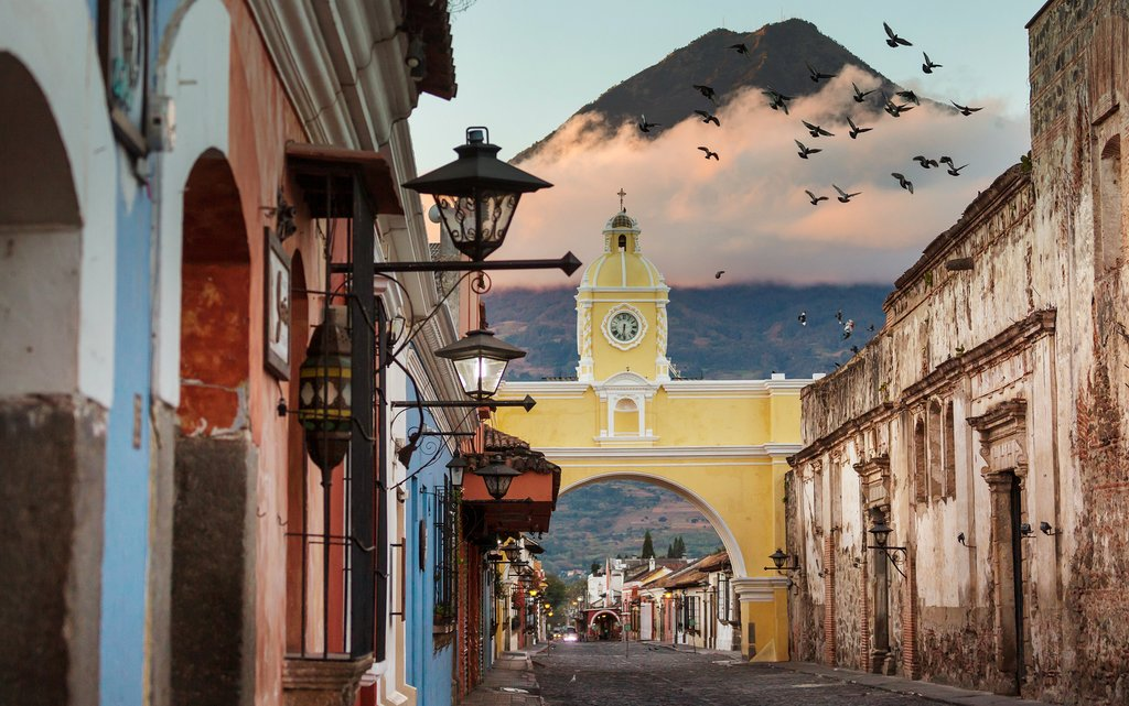 Discover Spanish colonial architecture like Antigua's famous Santa Catalina Arch
