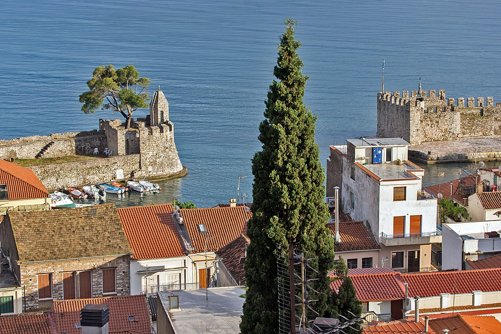Views of Nafpaktos town on the way to Delphi