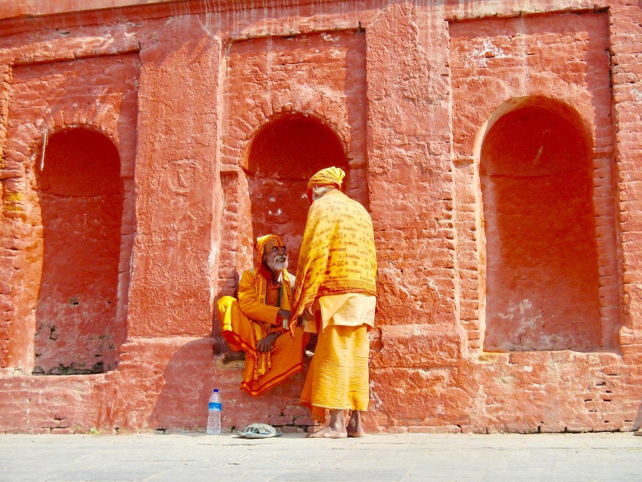 Hindu Priest at Pashupatinath Temple Kathmandu Photo taken by Greg C