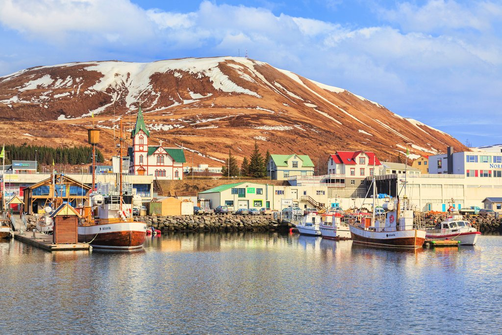 The whale watching capital of Husavik