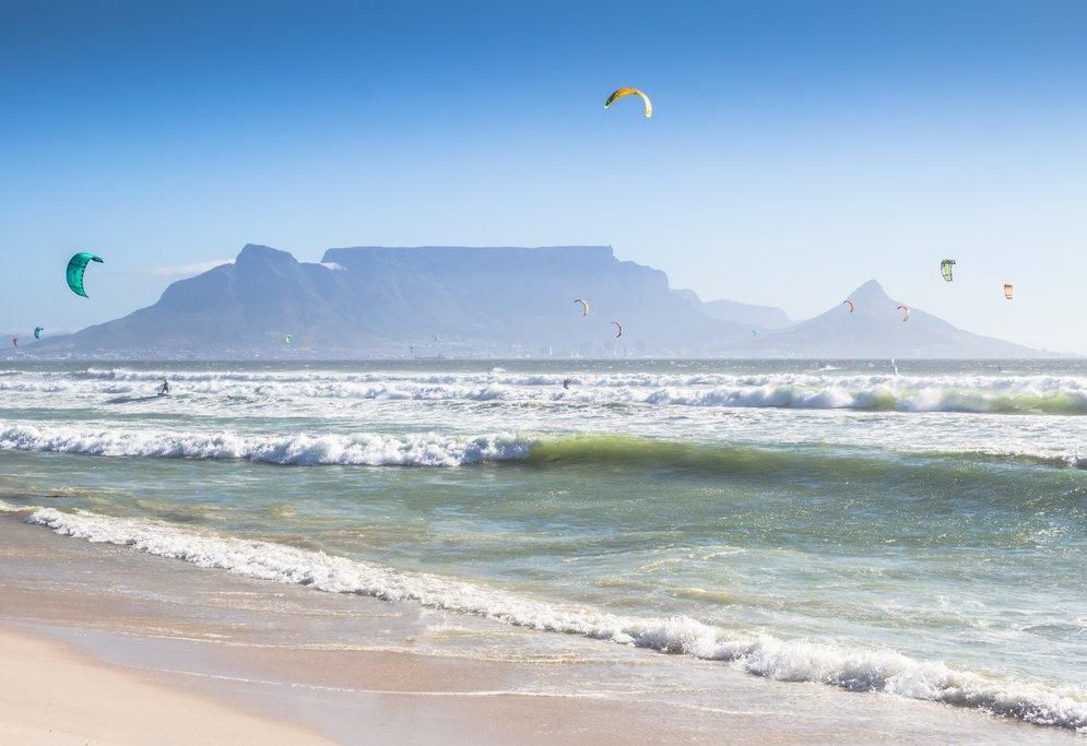 Kite surfers at Blouberg Beach