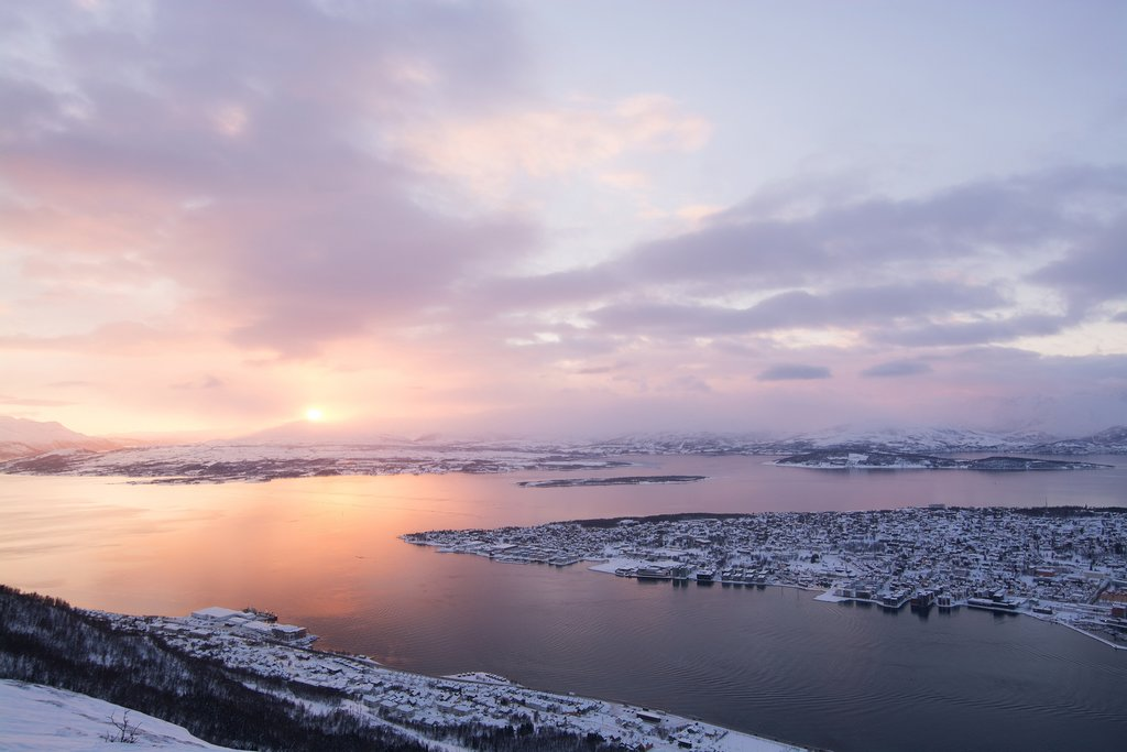 Sunrise in Norway's Arctic