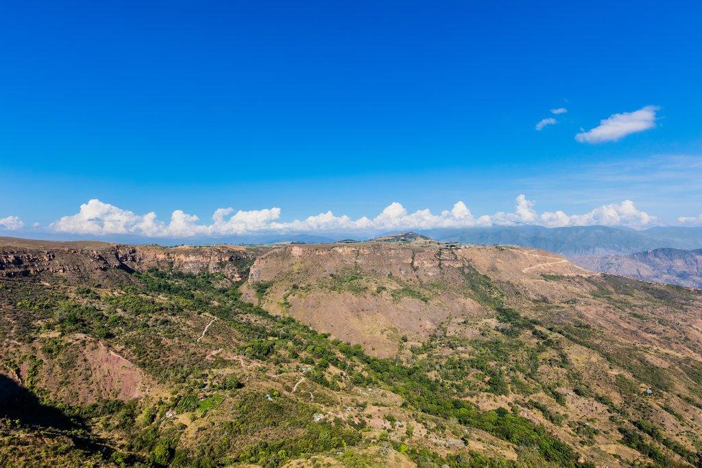 View of Chicamocha Canyon from Mesa de Los Santos