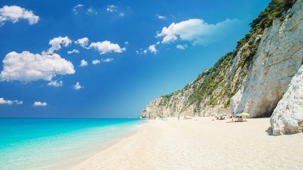 Stunning Egremni Beach on Lefkas