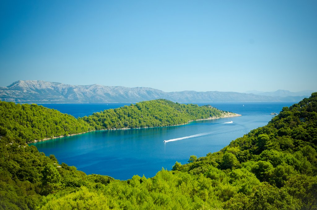 Beautiful coastline of Mljet National Park