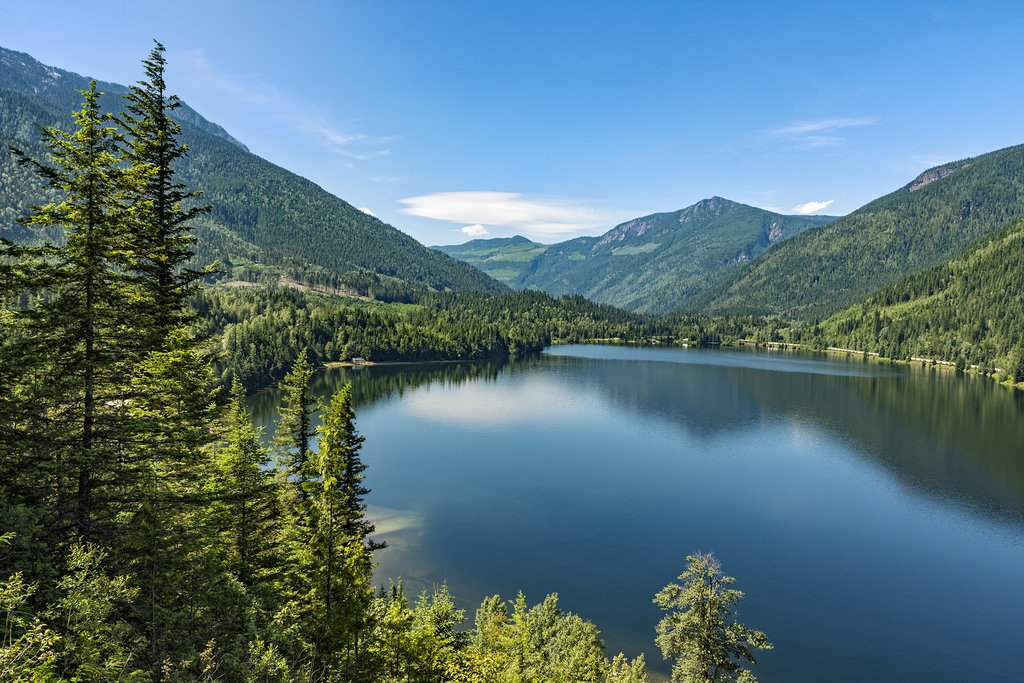 Three Valley Lake near Revelstoke and a historic ghost town