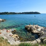 Croatia - A beach near Rovinj's town center