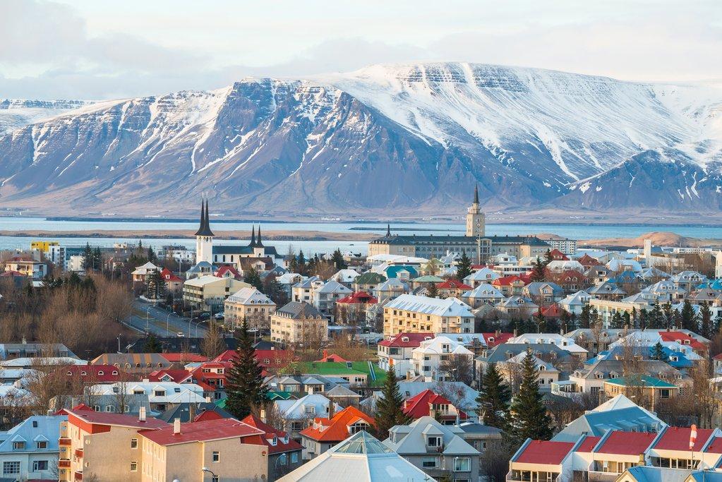 Reykjavik's snowcapped view
