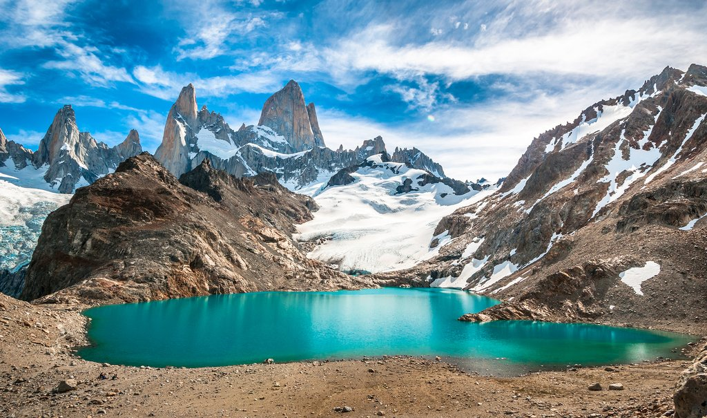 Admire the view from Laguna de los Tres